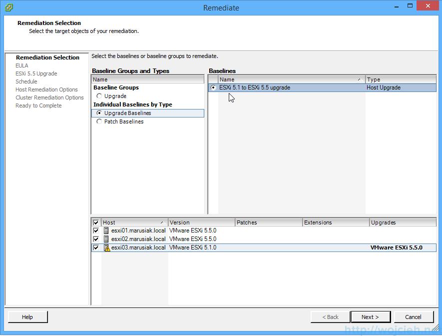 ESXi update - vSphere Update Manager 11
