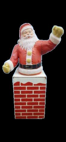 Illuminated Santa In Chimney photo
