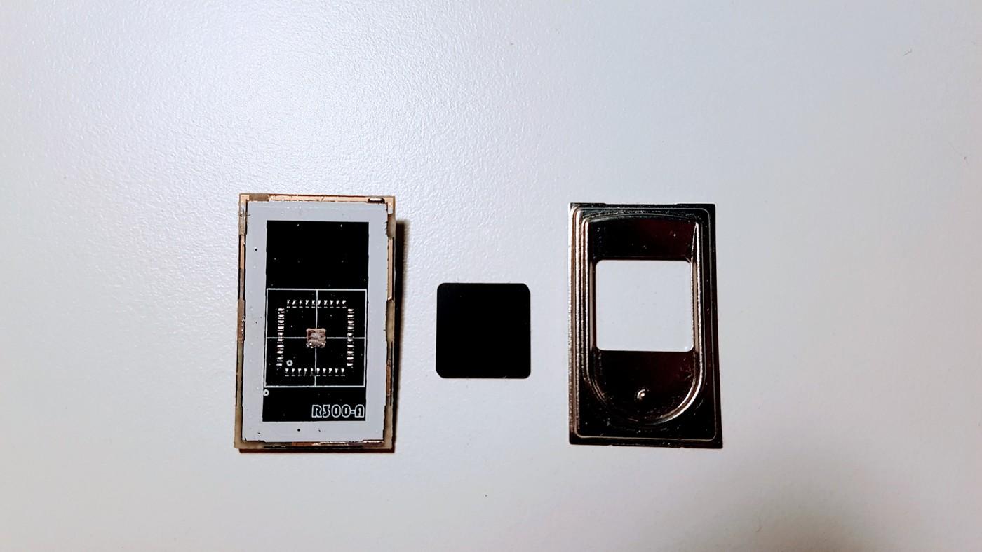 Desoldered fingerprint scanner
