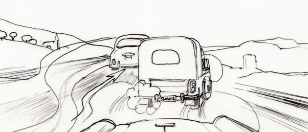 The Hot Potato storyboard car chase sequence - storyboard