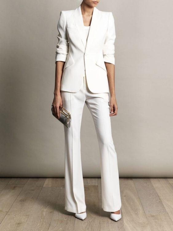 Costume femme blanc