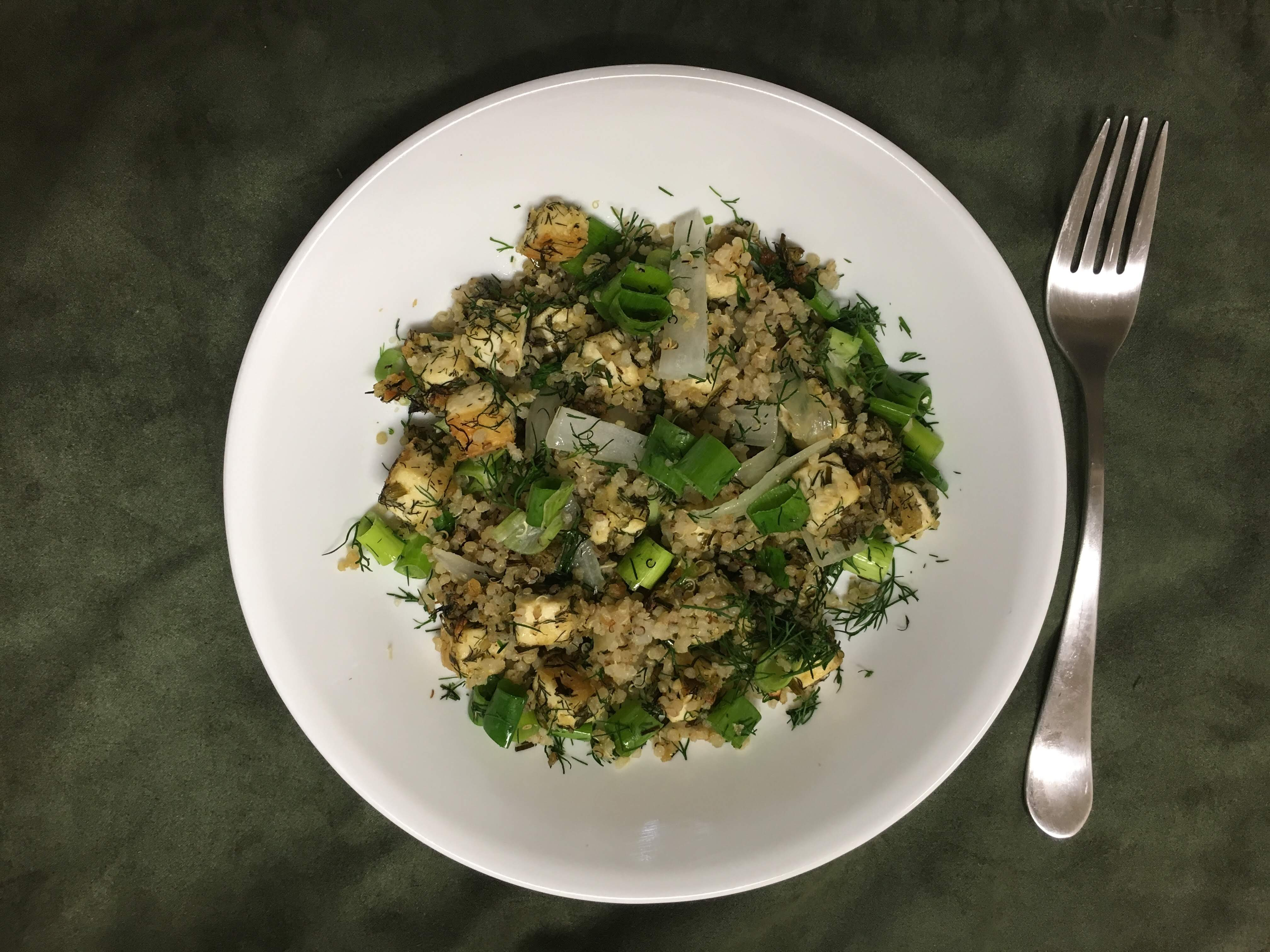 image from Quinoa With Crispy Dill Tofu