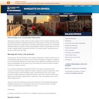 Screenshot of Marquette en Español homepage.