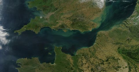 The English Channel from above
