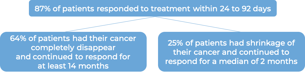 Results after treatment with Tecartus (diagram)