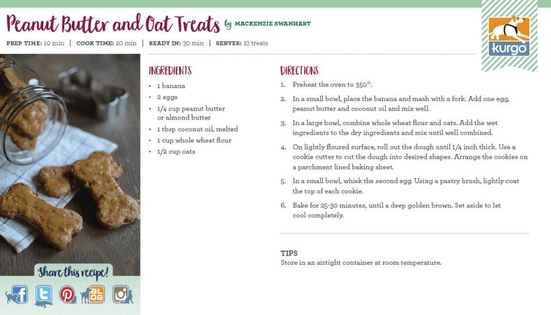 Holiday Recipe: Peanut Butter and Oat Treats