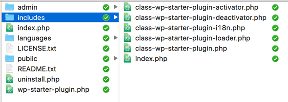 WordPress Plugin Boilerplate Includes Folder