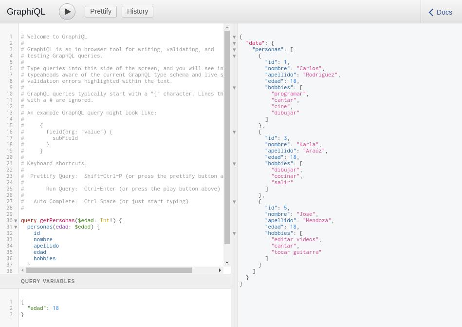 Express GraphQL home page