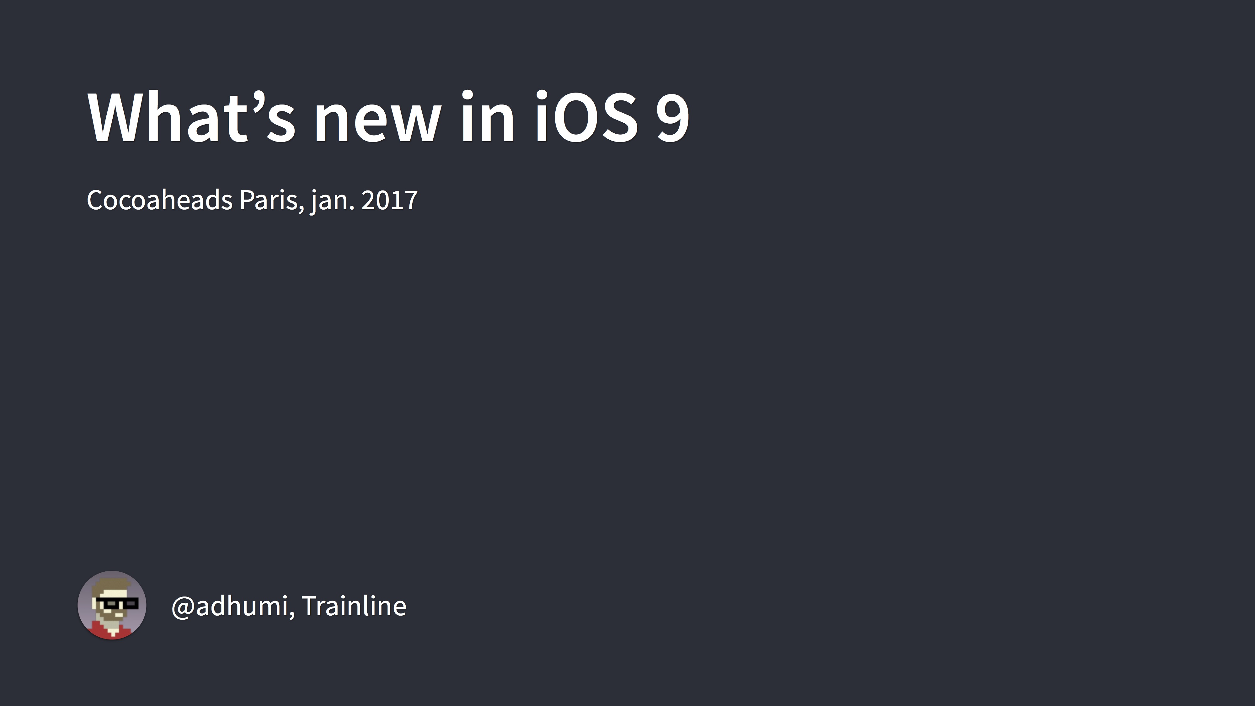 What's new in iOS 9