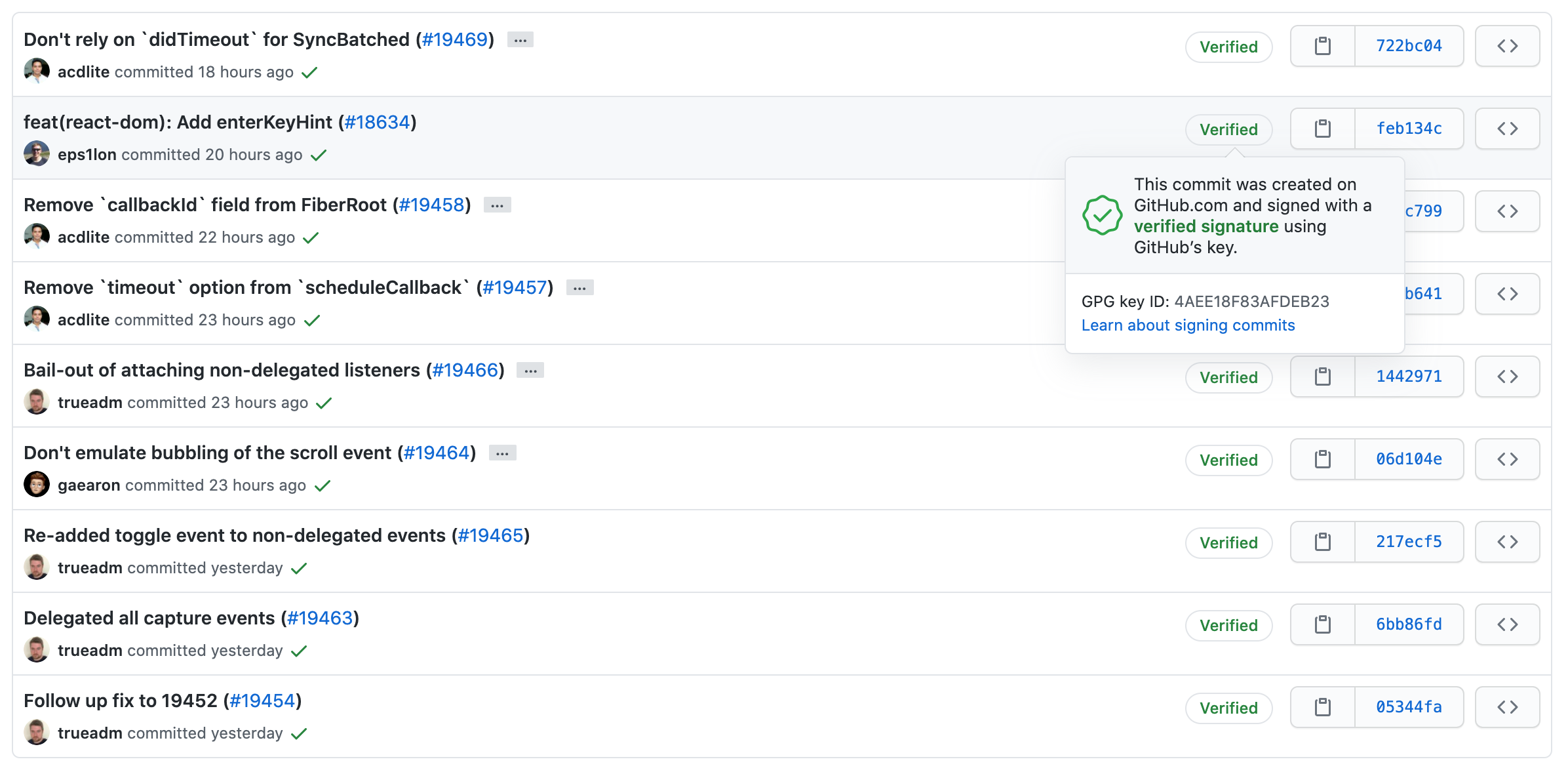 GPG verified commits on GitHub