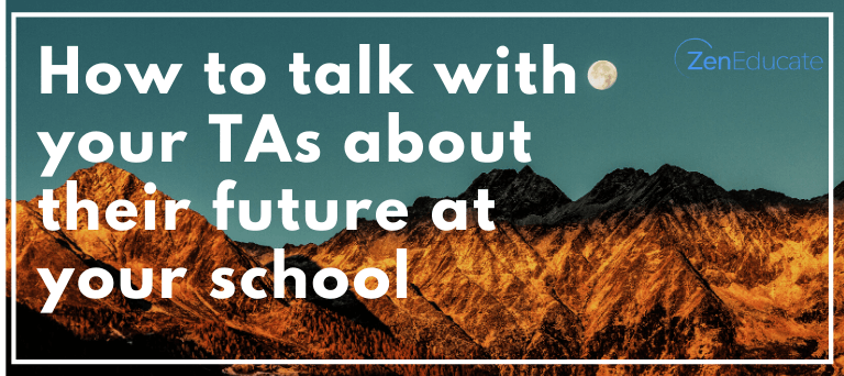 How to talk with your TAs about their future at your school