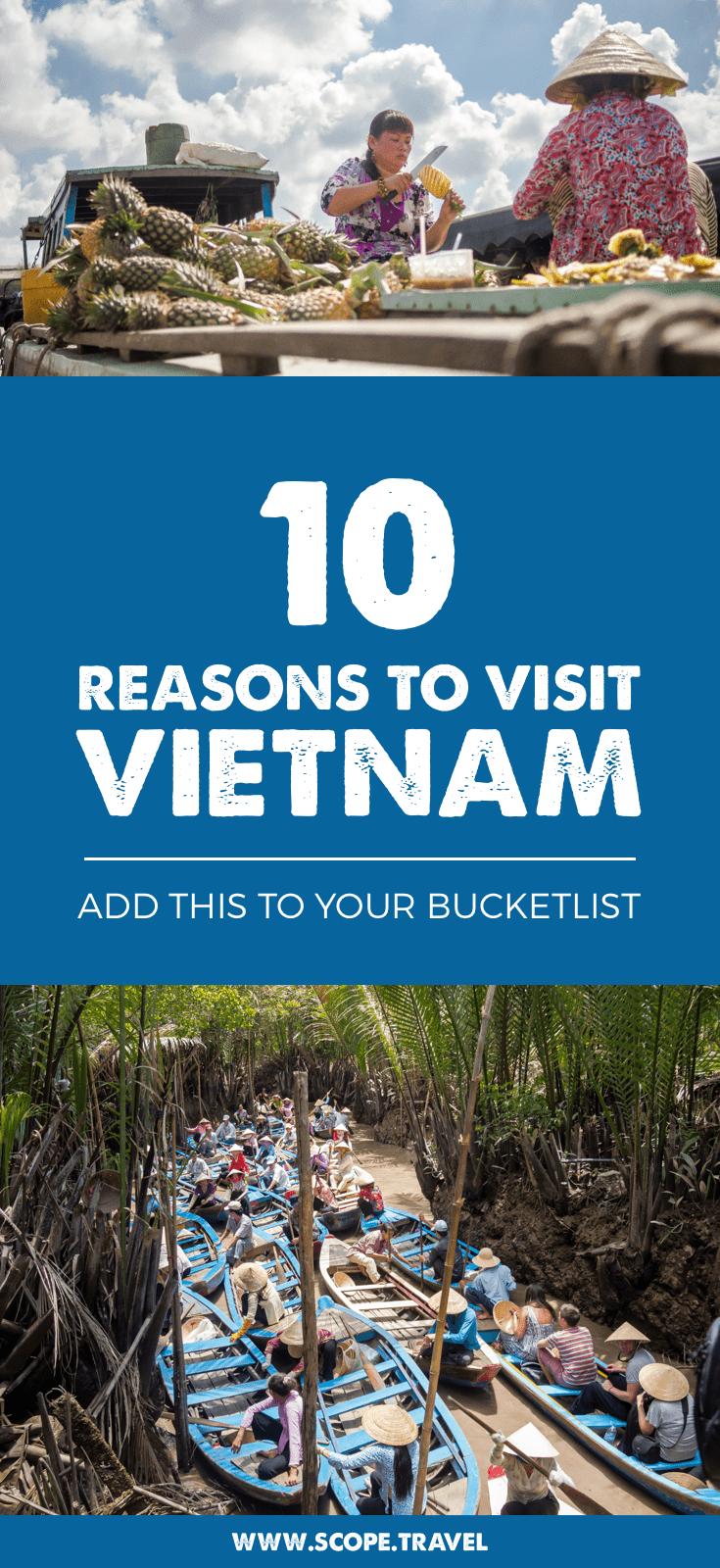 Pinterest 10 reasons to visit vietnam