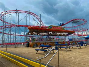 Rollercoaster Ride in Clarence Pier, Southsea