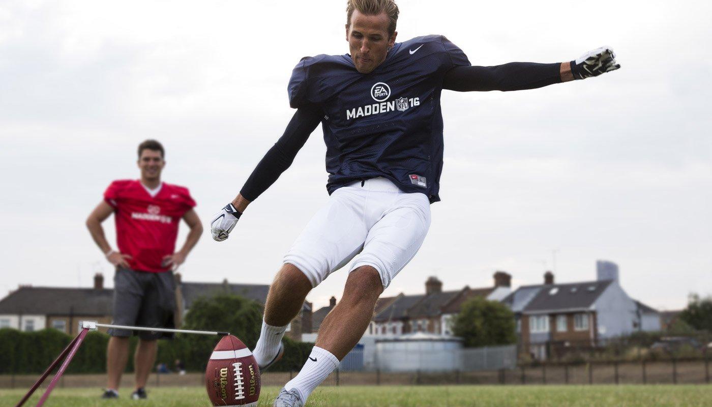 Harry Kane kicking for a Field Goal