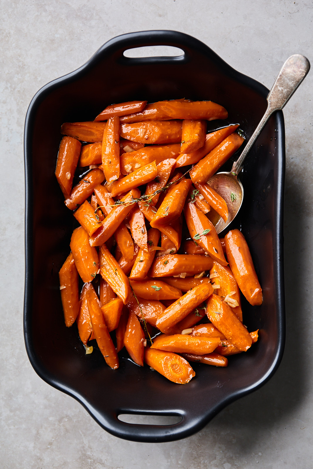Brown Butter Garlic Maple Roasted Carrot
