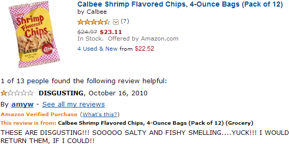 Shrimp\-flavored chips review