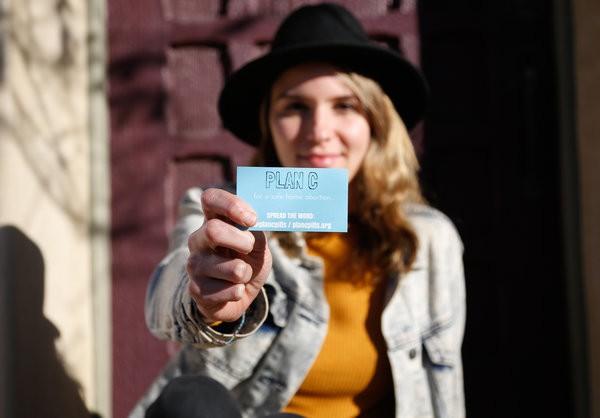 Madison Liddle, a Plan C volunteer