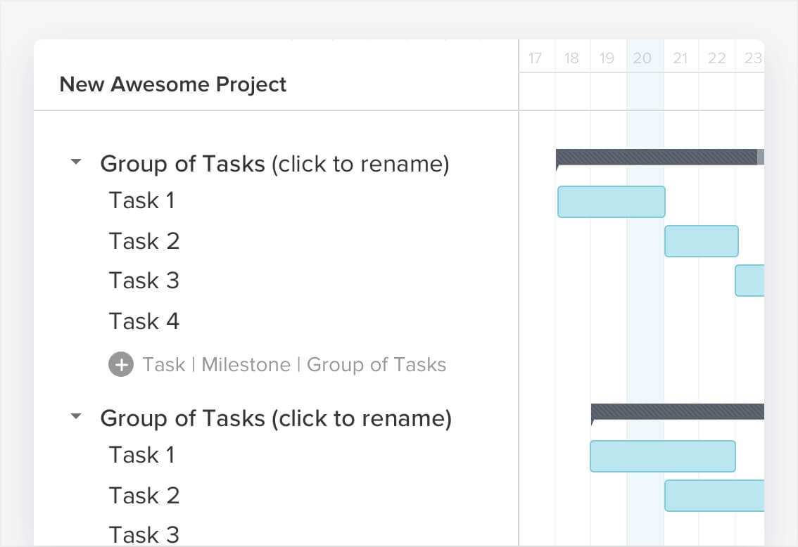How to make a gantt chart in 5 minutes or less teamgantt adding tasks to your gantt chart is the first step in creating your project timeline to create tasks click on the add task button task and type the nvjuhfo Gallery
