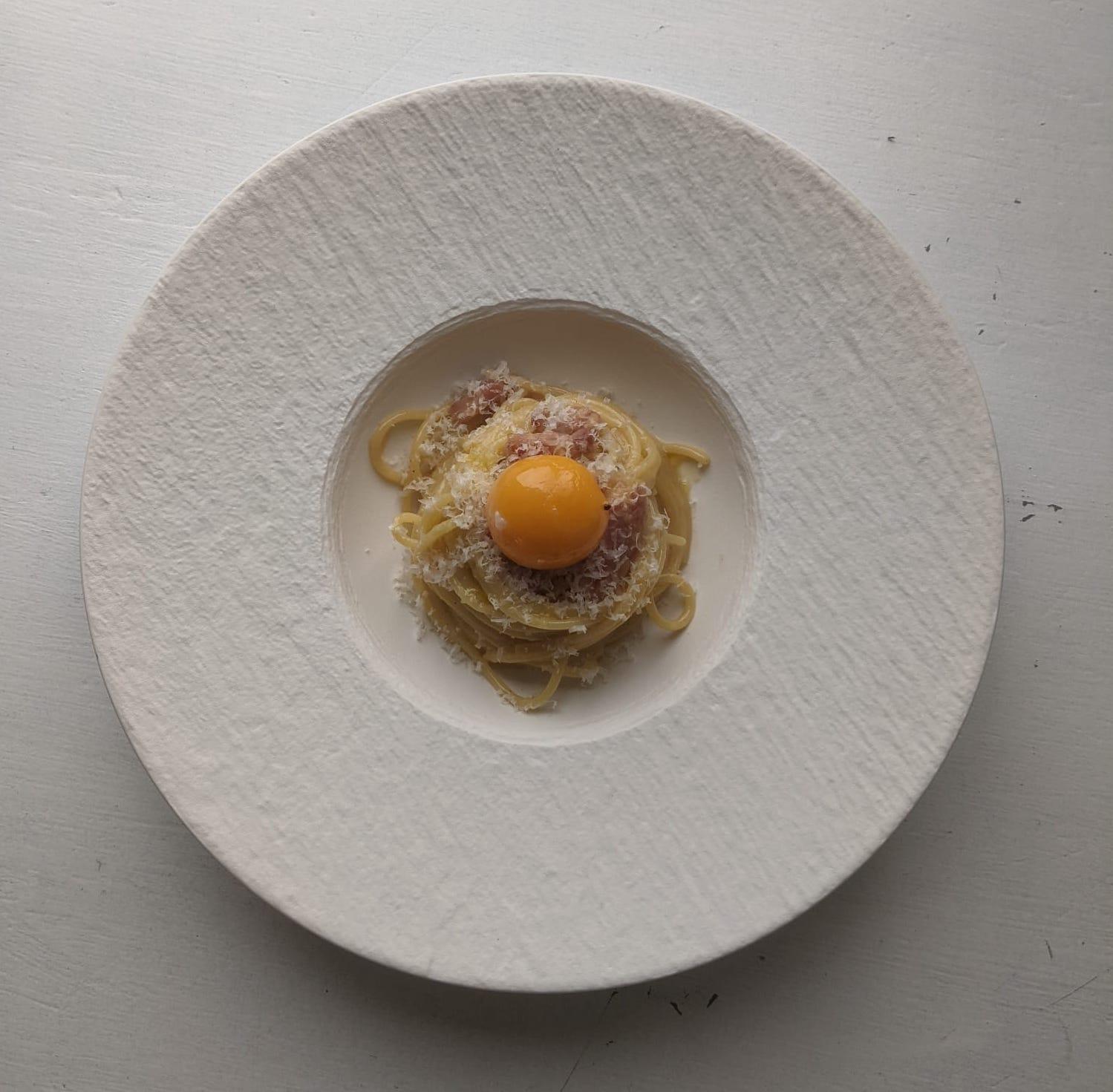 Confit Egg Yolk Carbonara