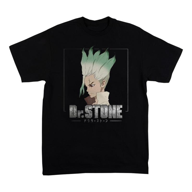 Dr. Stone Short Sleeve Black T-Shirt