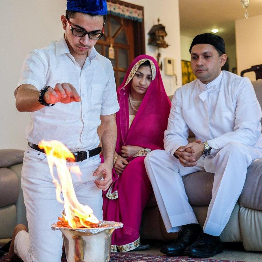 Fire represents God's wisdom in Zoroastrianism