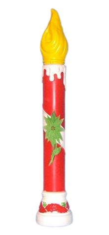 Poinsetta Candle-Red photo