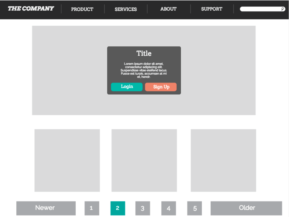Creating wireframes on Canva