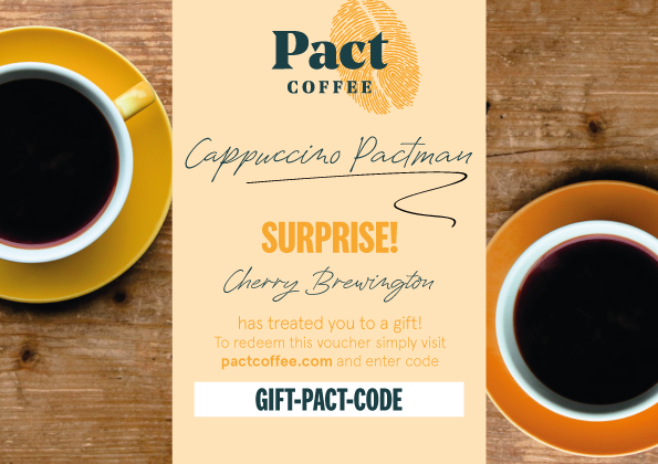 Coffee Gift Vouchers Pact Coffee