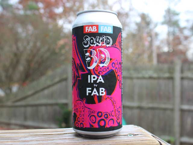 Squid 3D, a New England IPA brewed by Fermentation Arts Brasserie (FAB)