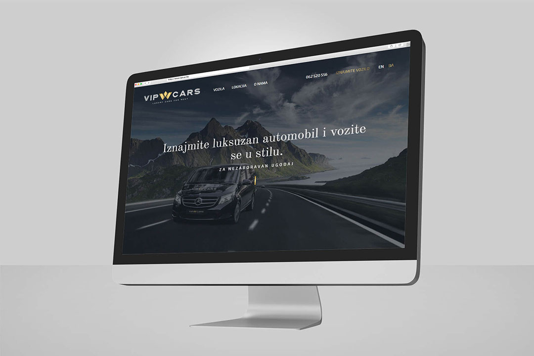 Project Vip Cars Luxury, Rent Luxury Cars, Website Design, Programming, Branding, SEO Optimization