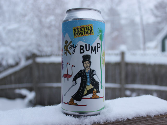 Key Bump, a Triple IPA brewed by Hoof Hearted Brewing