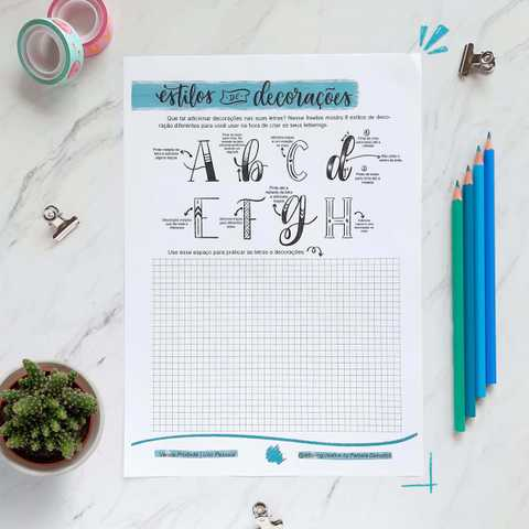 freebie decoracao letras