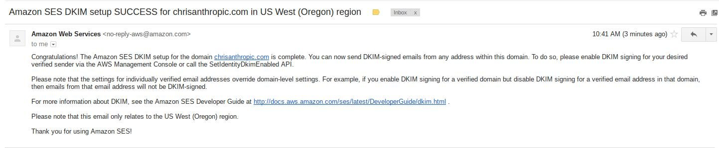 DKIM Verification Success