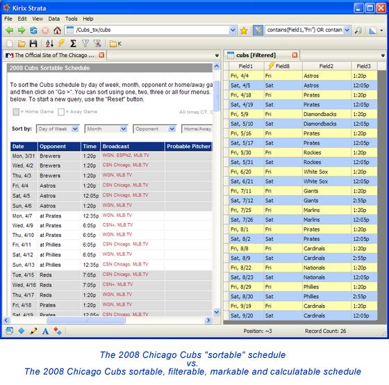 Screenshot - 2008 Cubs Schedule