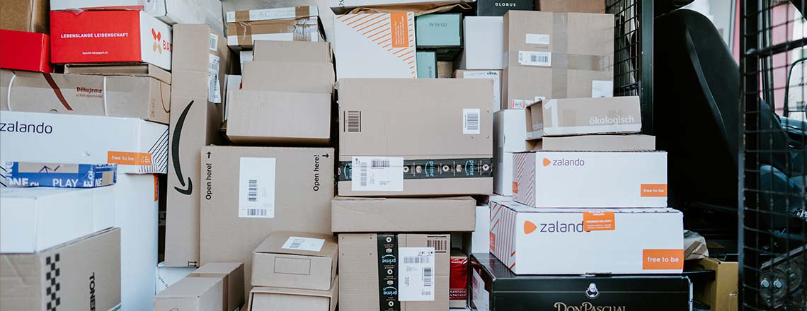 Online Retailer Shipping Boxes
