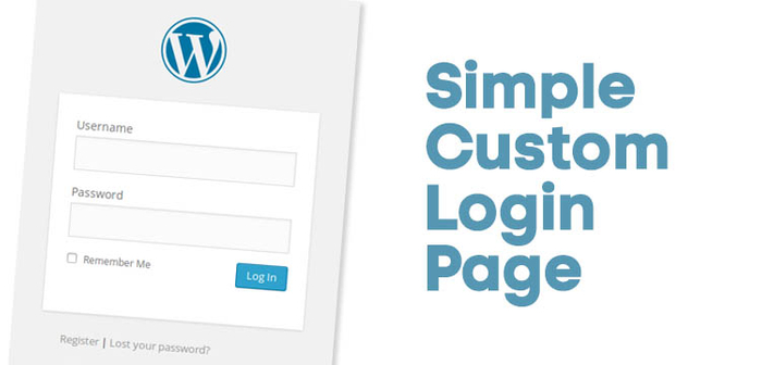 Simple WordPress Login Page Tutorial
