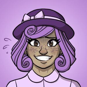 Honoka tries to smile.