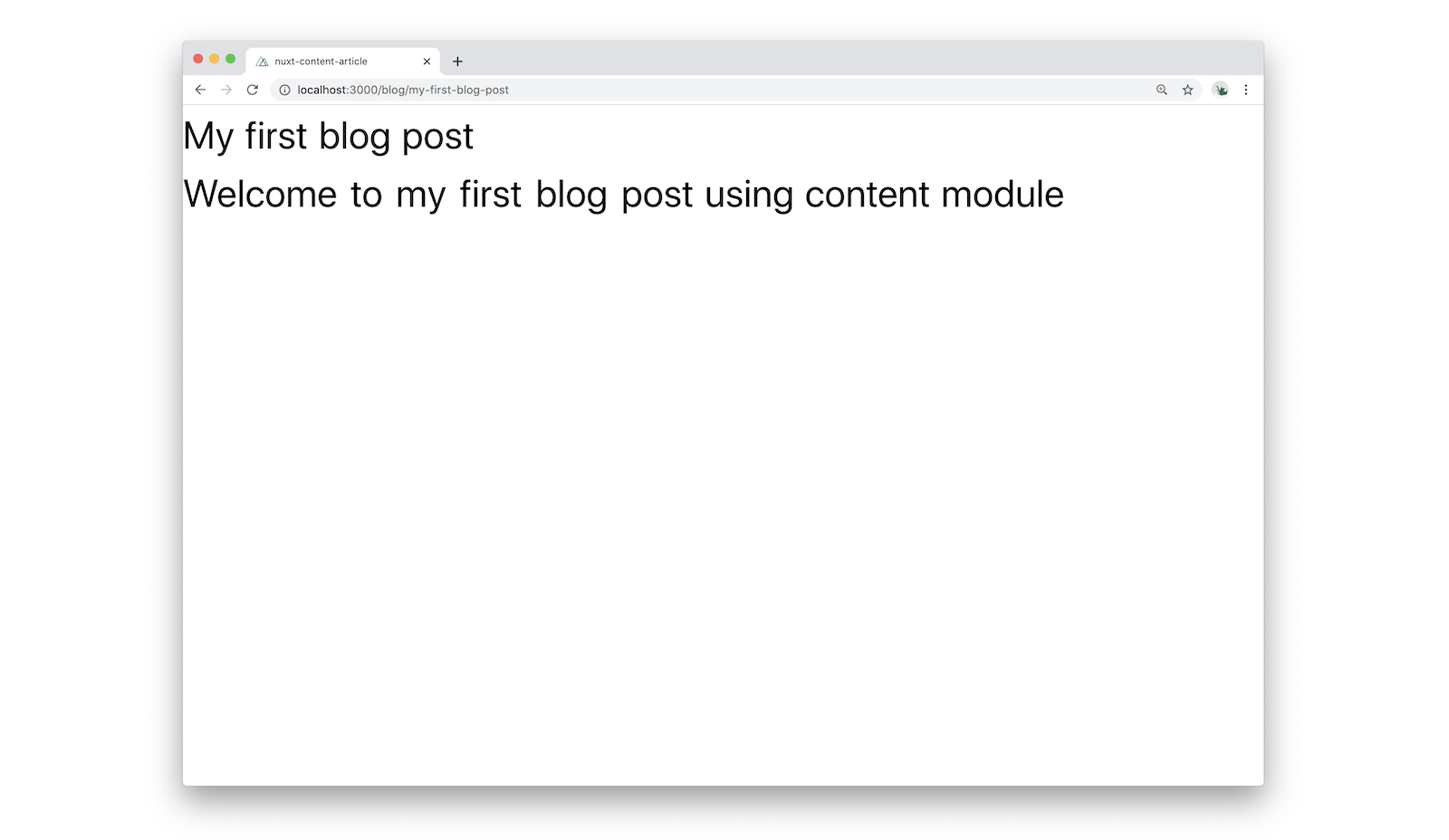 content from markdown