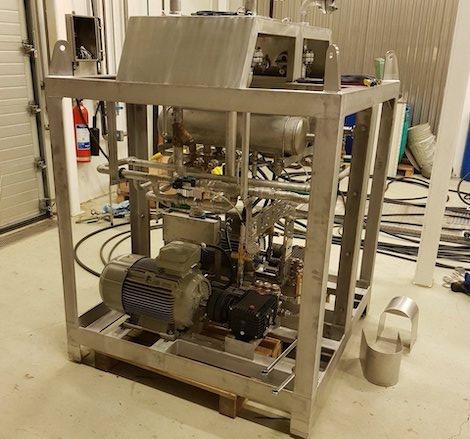 VK produsert høytrykksvasker som i dag er stasjonært på Skarv