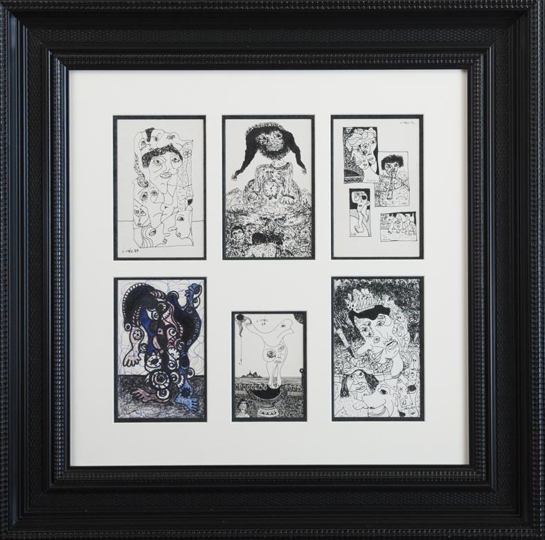 Limés - tinta papel - seis obras · tinta/papel