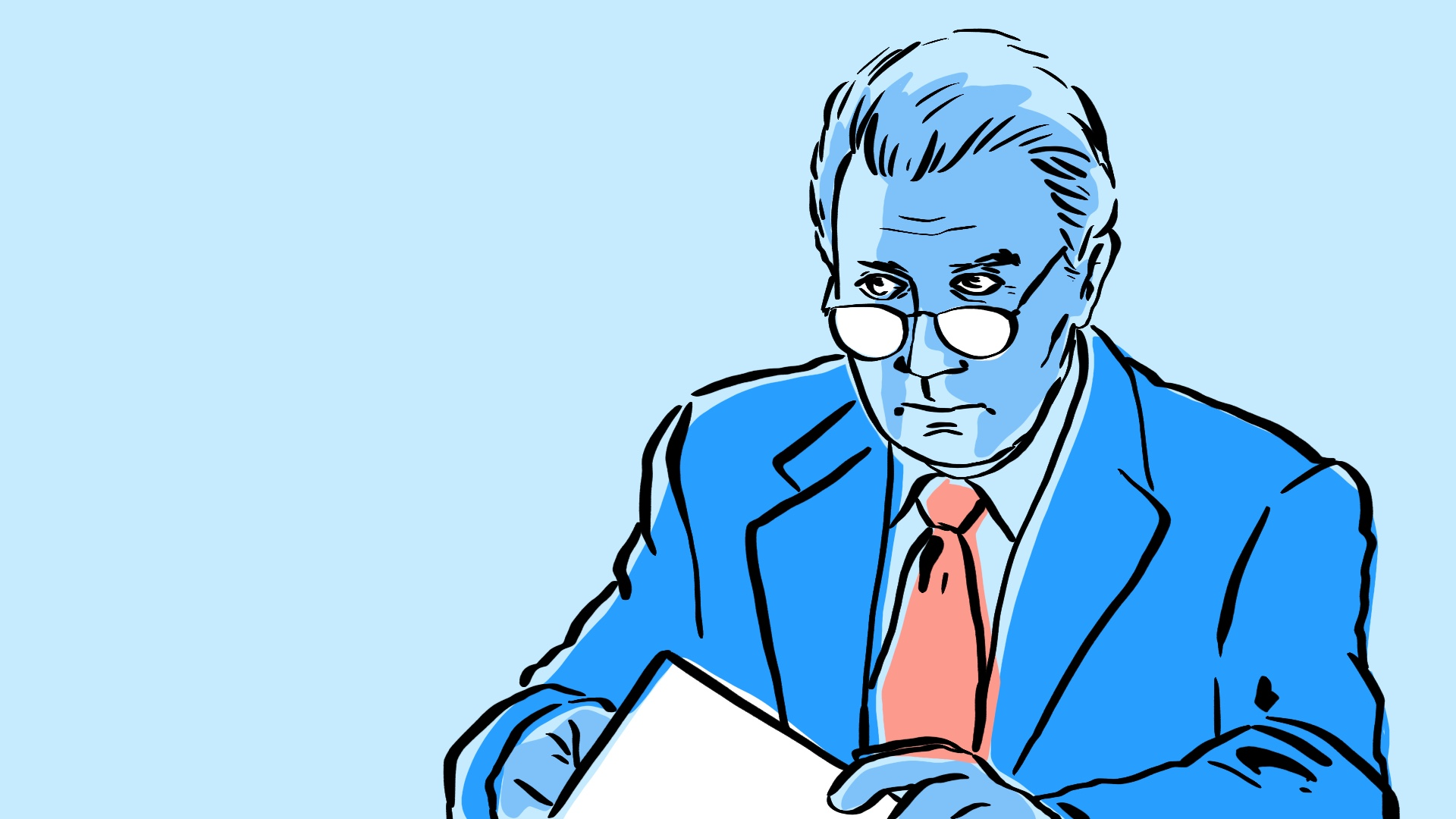 Illustration of Jed Bartlet from The West Wing television show