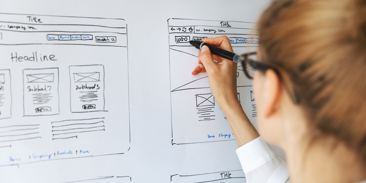 UX design student working on a project for their portfolio