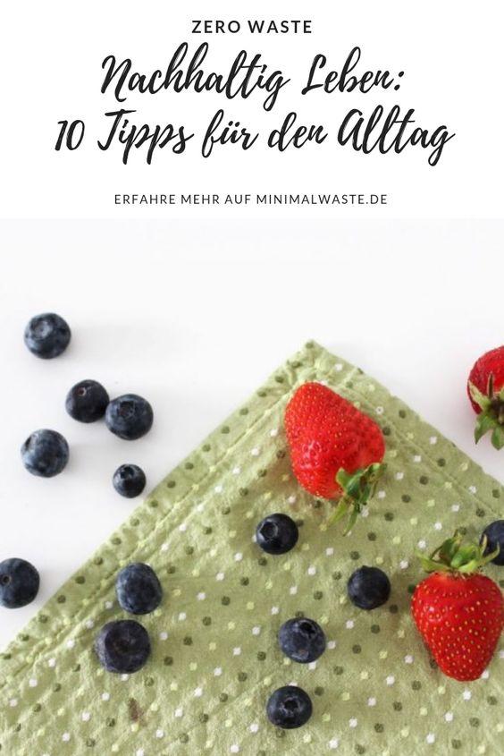 Pinterest Cover zu 'Nachhaltig Leben: 10 Tipps für den Alltag'