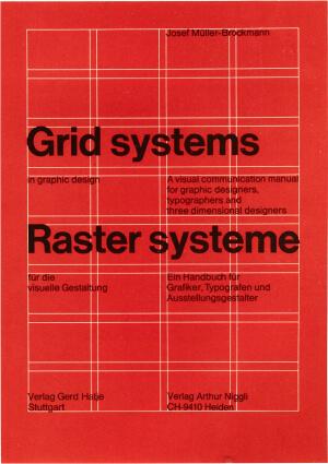 Image of Josef Müller-Brockmann's book Grid Systems
