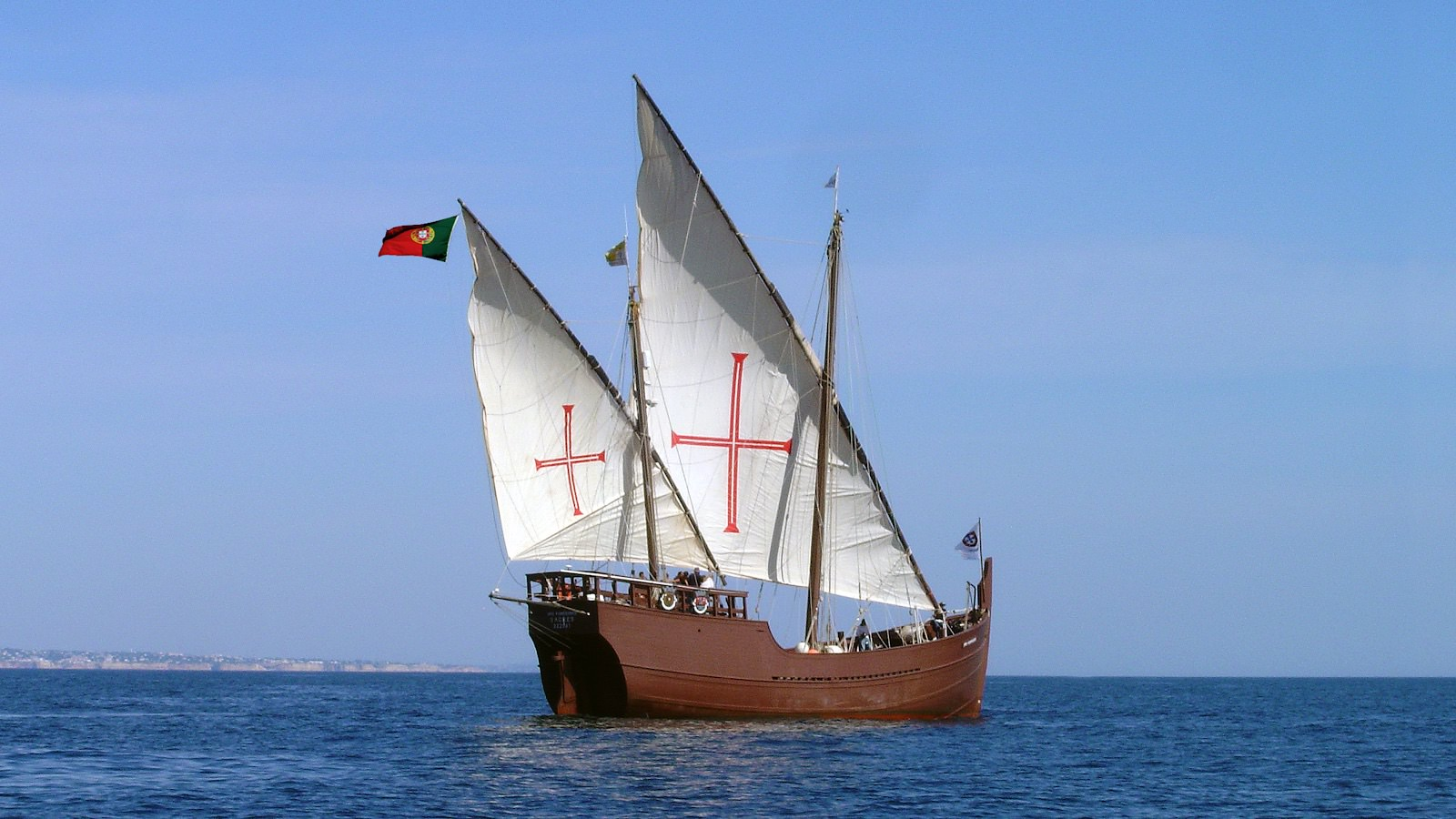 The caravel, used by Portuguese explorers, was a ship with triangular sails that made it possible to sail into the wind.