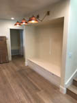 completed: kitchen seating alcove