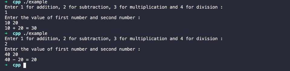 C++ calculator