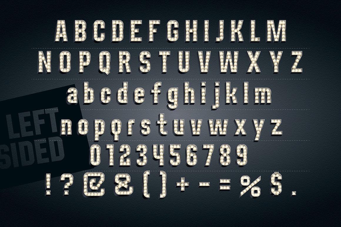 3d Condensed Lampboard alphabet images/3D-condense-black-typefaces-aphabet_2-2.jpg