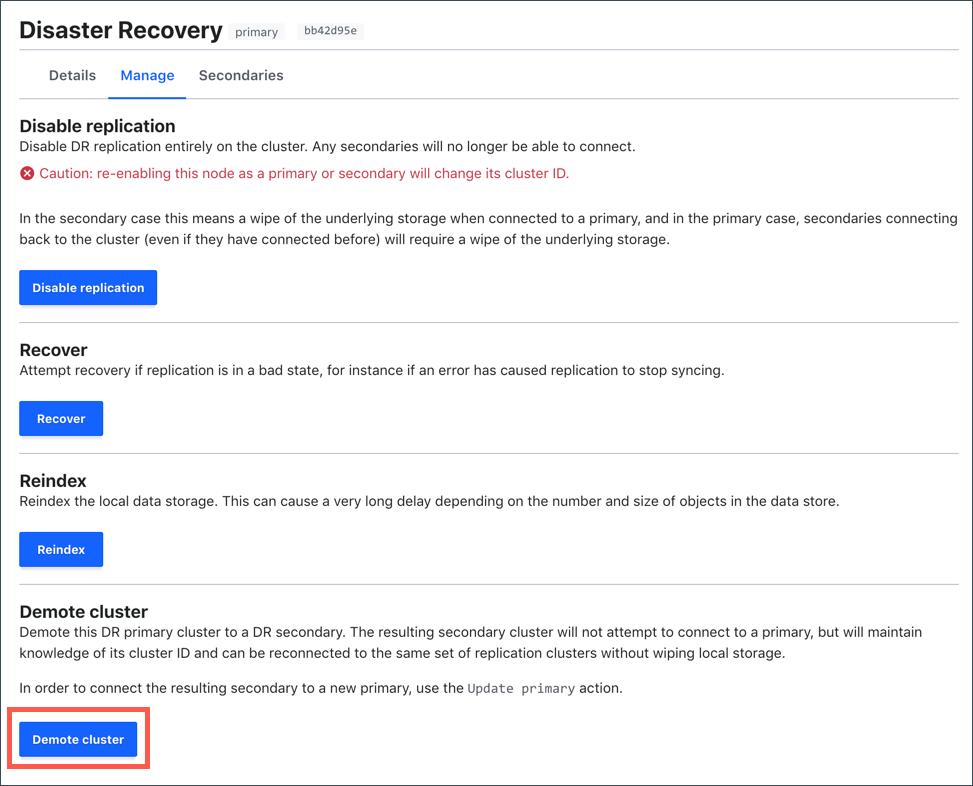 Enterprise] Disaster Recovery Replication Setup | Vault