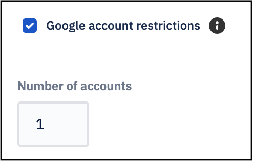 Google Account Restrictions